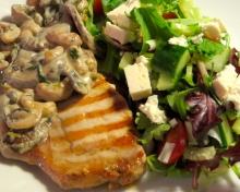 Tarragon mushroom and cashew nut pork