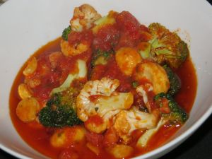 Mixed vegetable arrabbiata